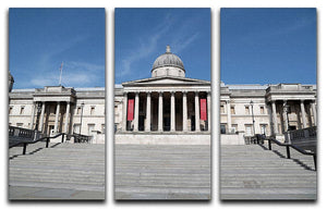 The National Gallery London under Lockdown 2020 3 Split Panel Canvas Print - Canvas Art Rocks - 1