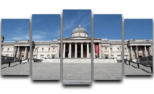 The National Gallery London under Lockdown 2020 5 Split Panel Canvas - Canvas Art Rocks - 1