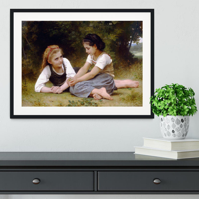 The Nut Gatherers By Bouguereau Framed Print - Canvas Art Rocks - 1
