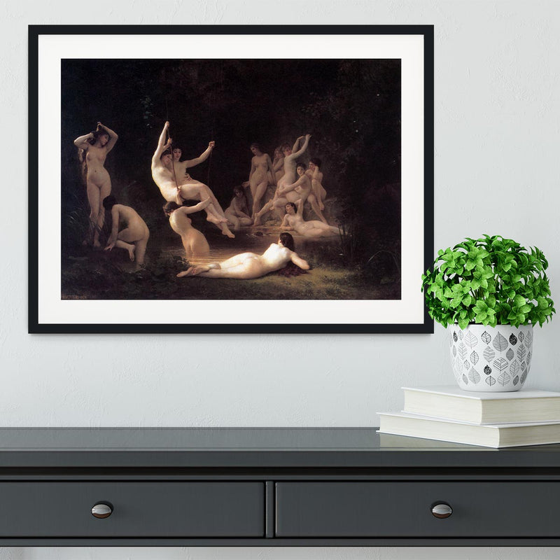 The Nymphaeum By Bouguereau Framed Print - Canvas Art Rocks - 1