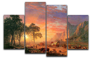 The Oregon Trail by Bierstadt 4 Split Panel Canvas - Canvas Art Rocks - 1