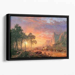 The Oregon Trail by Bierstadt Floating Framed Canvas - Canvas Art Rocks - 1