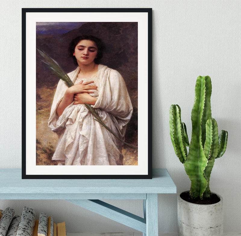 The Palm Leaf By Bouguereau Framed Print - Canvas Art Rocks - 1