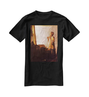 The Pearl Necklace by Vermeer T-Shirt - Canvas Art Rocks - 1
