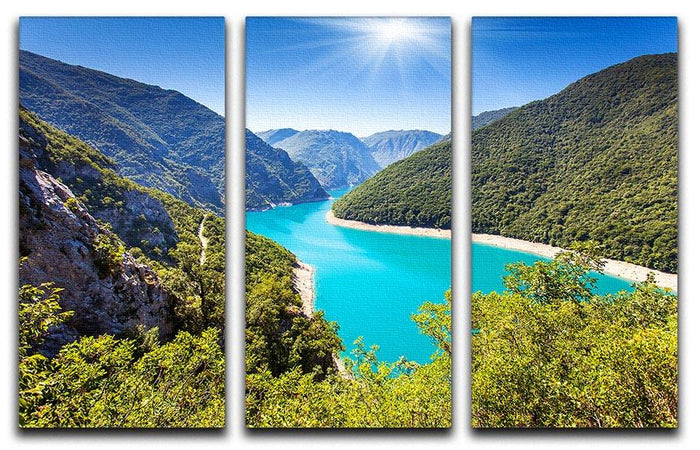 The Piva Canyon 3 Split Panel Canvas Print