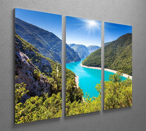 The Piva Canyon 3 Split Panel Canvas Print - Canvas Art Rocks - 2