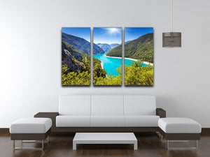 The Piva Canyon 3 Split Panel Canvas Print - Canvas Art Rocks - 3
