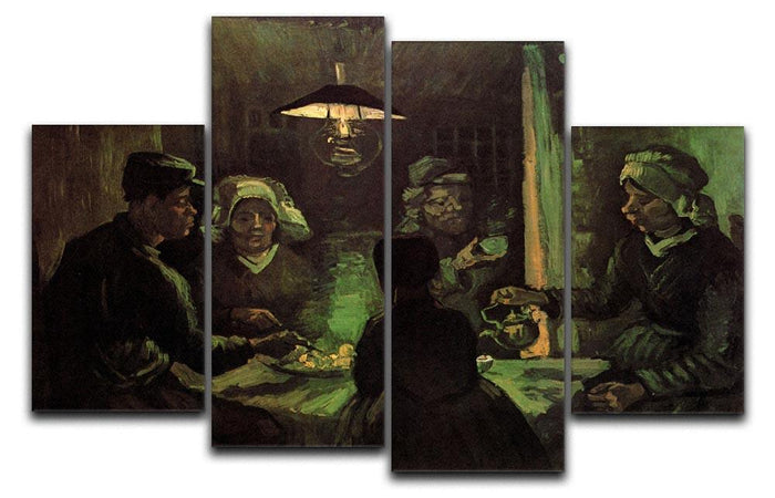 The Potato Eaters by Van Gogh 4 Split Panel Canvas