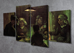The Potato Eaters by Van Gogh 4 Split Panel Canvas - Canvas Art Rocks - 2