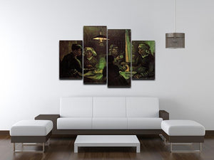 The Potato Eaters by Van Gogh 4 Split Panel Canvas - Canvas Art Rocks - 3