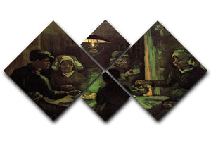 The Potato Eaters by Van Gogh 4 Square Multi Panel Canvas  - Canvas Art Rocks - 1