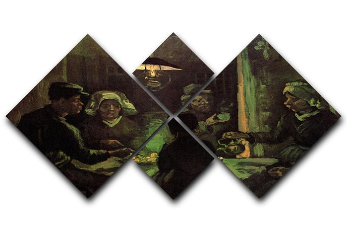 The Potato Eaters by Van Gogh 4 Square Multi Panel Canvas