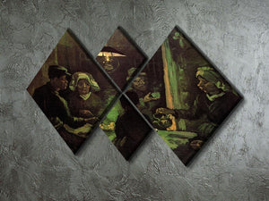 The Potato Eaters by Van Gogh 4 Square Multi Panel Canvas - Canvas Art Rocks - 2