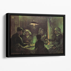 The Potato Eaters by Van Gogh Floating Framed Canvas