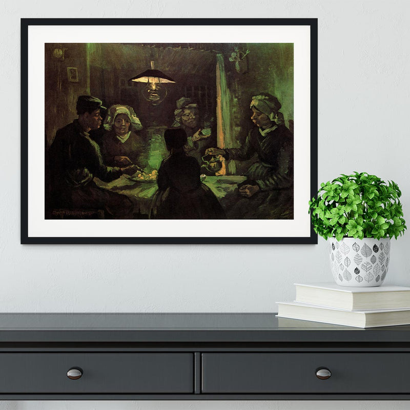 The Potato Eaters by Van Gogh Framed Print - Canvas Art Rocks - 1
