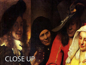 The Procuress by Vermeer 3 Split Panel Canvas Print - Canvas Art Rocks - 3