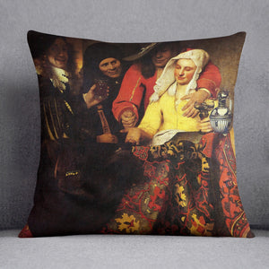 The Procuress by Vermeer Cushion
