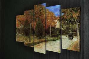 The Public Park at Arles by Van Gogh 5 Split Panel Canvas - Canvas Art Rocks - 2