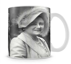 The Queen Mother at Lord Roberts Memorial Workshops in Dundee Mug - Canvas Art Rocks - 1
