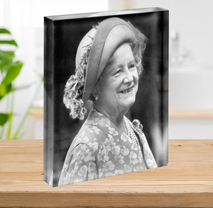 The Queen Mother at the Epsom Derby Acrylic Block - Canvas Art Rocks - 2