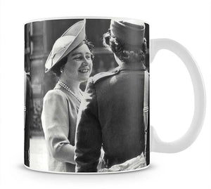 The Queen Mother inspecting WW2 service members Mug - Canvas Art Rocks - 1