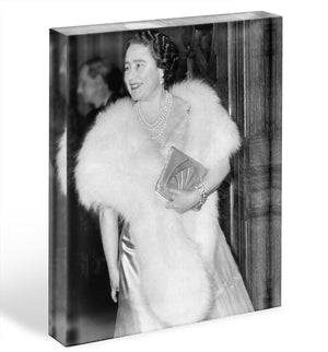 The Queen Mother on a night out at the Coliseum Acrylic Block - Canvas Art Rocks - 1