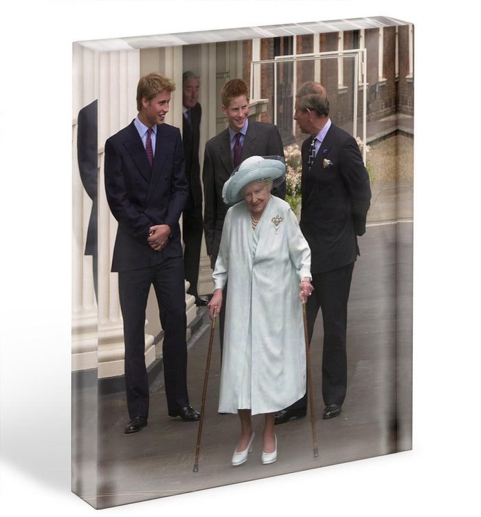 The Queen Mother on her 101st Birthday with family Acrylic Block