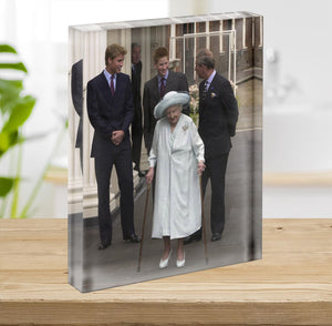 The Queen Mother on her 101st Birthday with family Acrylic Block - Canvas Art Rocks - 2