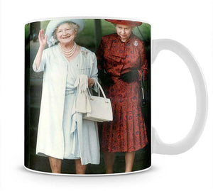 The Queen Mother on her 91st birthday with Queen Elizabeth Mug - Canvas Art Rocks - 1