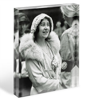 The Queen Mother opening a new hospital extension Acrylic Block - Canvas Art Rocks - 1