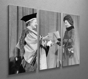 The Queen Mother receiving Honorary Doctorate by the Queen 3 Split Panel Canvas Print - Canvas Art Rocks - 2