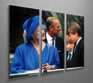The Queen Mother with Prince William and Prince Harry 3 Split Panel Canvas Print - Canvas Art Rocks - 2
