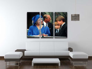 The Queen Mother with Prince William and Prince Harry 3 Split Panel Canvas Print - Canvas Art Rocks - 3
