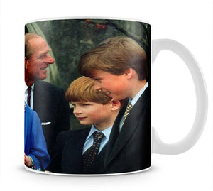 The Queen Mother with Prince William and Prince Harry Mug - Canvas Art Rocks - 1