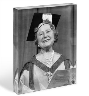 The Queen Mother with her honorary music degree Acrylic Block - Canvas Art Rocks - 1