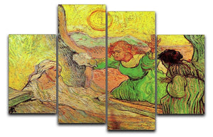 The Raising of Lazarus after Rembrandt by Van Gogh 4 Split Panel Canvas  - Canvas Art Rocks - 1