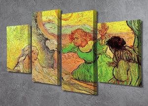 The Raising of Lazarus after Rembrandt by Van Gogh 4 Split Panel Canvas - Canvas Art Rocks - 2