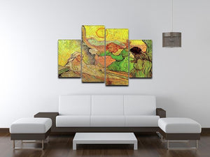 The Raising of Lazarus after Rembrandt by Van Gogh 4 Split Panel Canvas - Canvas Art Rocks - 3