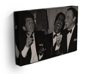 The Rat Pack Rocking With Laughter Canvas Print & Poster - Canvas Art Rocks