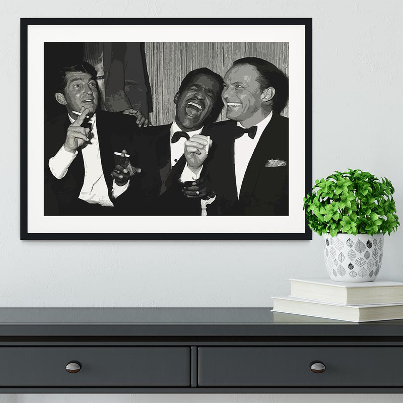 The Rat Pack Rocking With Laughter Framed Print - Canvas Art Rocks - 1
