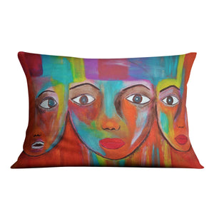The Red Faces Cushion