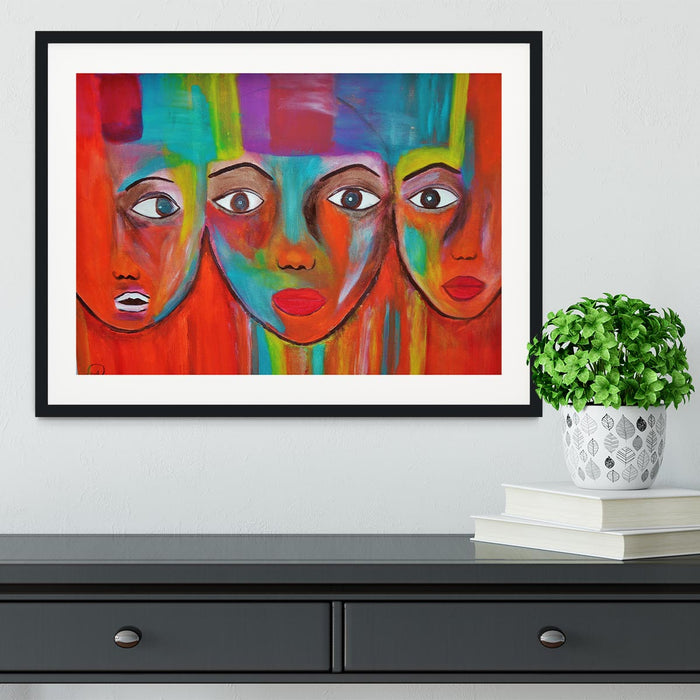 The Red Faces Framed Print