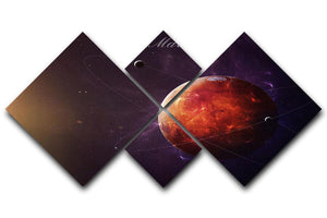 The Red Planet Mars 4 Square Multi Panel Canvas  - Canvas Art Rocks - 1