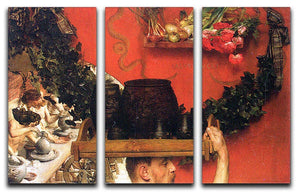 The Roman pottery in Britain by Alma Tadema 3 Split Panel Canvas Print - Canvas Art Rocks - 1
