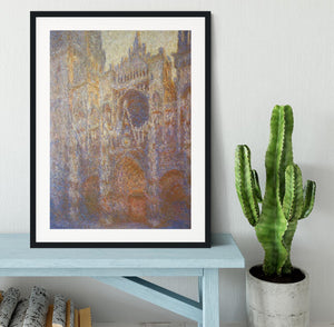 The Rouen Cathedral West facade by Monet Framed Print - Canvas Art Rocks - 1