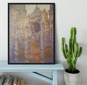 The Rouen Cathedral West facade by Monet Framed Print - Canvas Art Rocks - 2