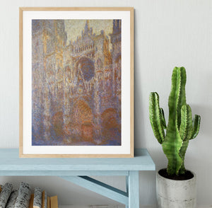 The Rouen Cathedral West facade by Monet Framed Print - Canvas Art Rocks - 3