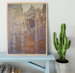 The Rouen Cathedral West facade by Monet Framed Print - Canvas Art Rocks - 4