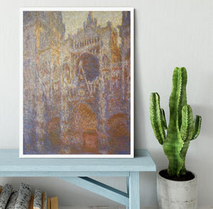 The Rouen Cathedral West facade by Monet Framed Print - Canvas Art Rocks -6