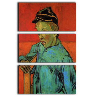 The Schoolboy Camille Roulin by Van Gogh 3 Split Panel Canvas Print - Canvas Art Rocks - 1